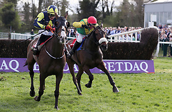 Magic Of Light ridden by Robbie Power (right) wins the Hanlon Concrete Irish EBF Glencarraig Lady Francis Flood Mares Handicap Chase ahead of Goodthynemilan ridden by Mark Enright during day four of the Punchestown Festival 2018 at Punchestown Racecourse, County Kildare.