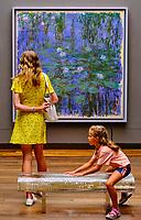 France, Paris (75), zone classée Patrimoine Mondial de l'UNESCO, Musée d'Orsay, Nymphéas bleus, Claude Monet // France, Paris, Orsay museum, Nymphéas bleus, Claude Monet
