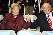 Queens Borough President, Helen M. Marshall and The Honorable Mayor Ed Koch at the Swearing-in of the Honorable David A. Patterson at the 55th Governor of New York  at The New York State Capitol in the Assembly Chambers on March 17, 2008
