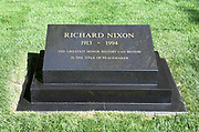 Richard Nixon Headstone and Gravesite at Nixon Library