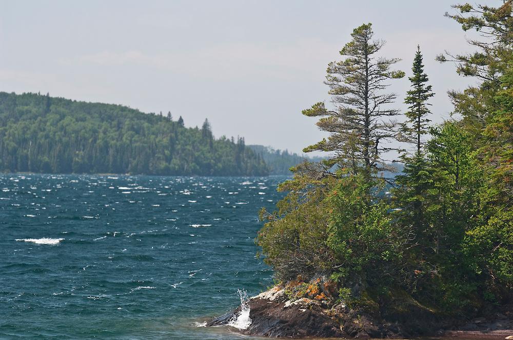 Waves on Lake Superior at Isle Royale National Park.