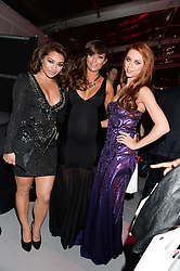 Left to right, VANESSA WHITE, FRANKIE SANDFORD and UNA HEALY at the Glamour Women of the Year Awards in association with Pandora held in Berkeley Square Gardens, London on 4th June 2013.