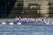 Mortlake/Chiswick, GREATER LONDON. United Kingdom. Canottieri Cagliari<br /> Canottieri Cagliari  (IT) MasA.8+, competing in the 2017 Vesta Veterans Head of the River Race, The Championship Course, Putney to Mortlake on the River Thames.<br /> <br /> <br /> Sunday   26/03/2017<br /> <br /> [Mandatory Credit; Peter SPURRIER/Intersport Images]