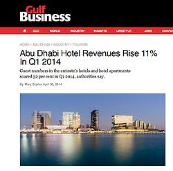 Gulf Business; Skyline of Abu Dhabi
