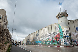 1 March 2020, Bethlehem: View of the separation wall running through Bethlehem.