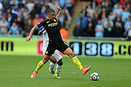 Aleksandar Kolarov of Manchester city in action. . Premier league match, Swansea city v Manchester city at the Liberty Stadium in Swansea, South Wales on Saturday 24th September 2016.<br /> pic by Andrew Orchard, Andrew Orchard sports photography.
