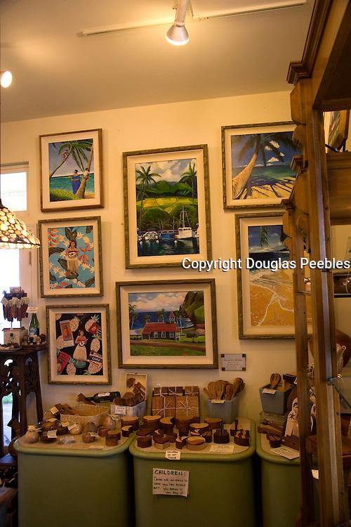Art gallery, Kahakuloa, Maui, Hawaii (editorial use only)<br />
