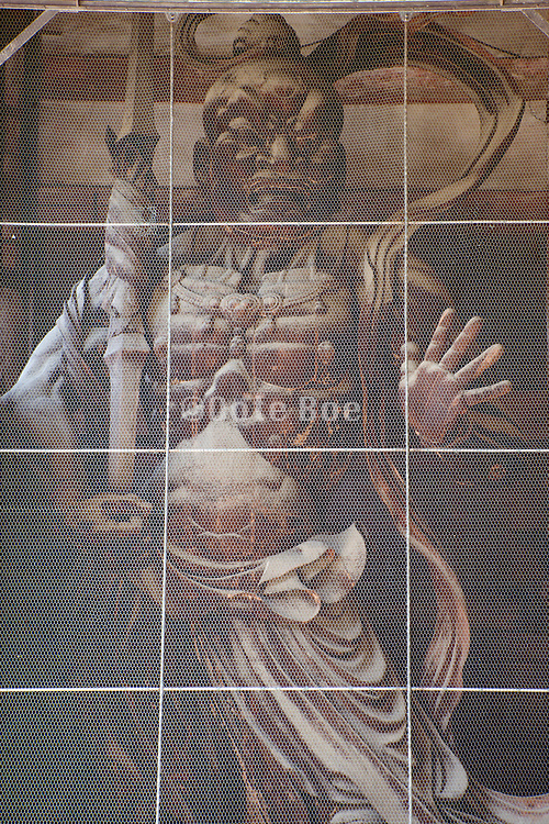 Agyo, one of two Nio gate guardians at the entrance to The Great Buddha temple in Nara