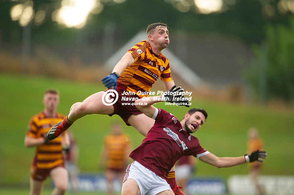 27-07-21. Carnaross v St. Vincent's Tailteann Cup Final 2020.<br /> Paddy McDermott, Carnaross in action against Leo Corry, St. Vincents in the Meath Tailteann Cup Final 2020.<br /> Photo: John Quirke / www.quirke.ie<br /> ©John Quirke Photography, 16 Proudstown Road, Navan. Co. Meath. (info@quirke.ie / 046-9028461 / 087-2579454).
