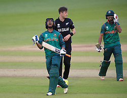 Bangladesh's Mahmudullah celebrates his side's victory over New Zealand during the ICC Champions Trophy, Group A match at Sophia Gardens, Cardiff.