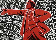 Russian Revolution, October 1917. Vladimir Ilyich Lenin (Ulyanov - 1870-1924). Undated Communist poster.