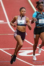 USATF Grand Prix track and field meet<br /> April 24, 2021 Eugene, Oregon, USA<br /> womens 100, Athleta