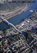 Aerial, Monongahela River, and town, Southwest PA Aerial Photograph Pennsylvania