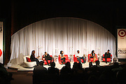 l to r: Holly Robinson-Pete, Evan Ross, Lauren London, Anthony Mackie, Tantayana Ali, and Nate Parker at ' The Young Hollywood ' panel at The 2008 American Black Film Festival  held at The Writers Guild of America on August 9, 2008...The Festival film slate is primarily composed of world premieres (shorts, narrative features and documentaries), positioning it as the leading film festival in the world for African American and urban content. Since its inception ABFF, has screened over 450 films and has rewarded and redefined artistic excellence in independent filmmaking.
