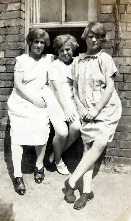 young girl friends casual posing