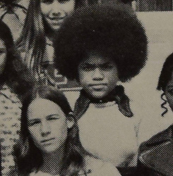 """EXCLUSIVE: MEGHAN Markle's mum rocks the 70s look, sporting trendy flares and a natural Afro hair style as a schoolgirl. These are the first photos of Prince Harry's likely future mother-in-law Doria Ragland as a young woman and she bears a striking resemblance to her superstar daughter. Doria met Harry at the closing ceremony of the Invictus Games in Toronto last month where she was photographed in a private box with the happy couple demonstrating how serious he and Meghan's relationship has become. Seen here as a 16-year-old schoolgirl at Fairfax High School in Los Angeles, Doria was pictured in her 1972 school yearbook photo as well as snaps with the Girl's Athletic Association and another club called APEX. Nine years later she would give birth to Meghan, now 36, who went on to become a successful actress in US legal drama Suits and the glamorous American girlfriend who many think Harry will marry. Speaking about her parents Meghan once said: """"I like to think he was drawn to her sweet eyes and her Afro, plus their shared love of antiques... whatever it was they married and had me"""". Fairfax High's close proximity to Hollywood has led to a glittering alumni list which including actors Mickey Rooney, Ricardo Montalbam, Mila Kunis, Demi Moore and David Arquette. Famous musicians who went there include Flea from Red Hot Chilli Peppers, Slash from Guns and Roses and Jackie and Tito Jackson from the Jackson Five. After school Doria went on to work in the film industry herself as a make-up artist which is how she met Meghan's dad, Thomas Markle, a Hollywood lighting director. At 61, Doria is five years older than Harry's mother Princess Diana would have been if she was still alive today. However her teenage days in 1970s LA were a world away from the stuffy British aristocracy Diana grew up in. Meghan's dad is also seen here as a young man for the first time in a snap from his 1962 school yearbook. The photo shows Tom aged 18, posing in his senior year at Newport Junior-"""