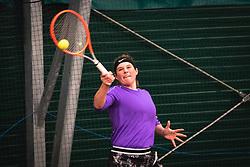 Anali Kocevar during national tennis cup tournament, Telemach - Drzavni pokal, on March 13, 2021 in Teniski klub Murska Sobota, Murska Sobota, Slovenia. Photo by Blaž Weindorfer / Sportida
