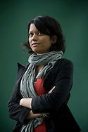 Indian writer Anjali Joseph, pictured at the Edinburgh International Book Festival where she talked about her debut novel entitled 'Saraswati Park'. The three-week event is the world's biggest literary festival and is held during the annual Edinburgh Festival. The 2011 event featured talks and presentations by more than 500 authors from around the world..