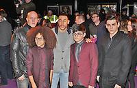 LONDON - January 08: Terry Smith, Perri Luc Kiely, Warren Russell, Mitchell Craske & Sam Craske at the Kooza Cirque Du Soleil - VIP Night (Photo by Brett D. Cove)