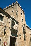 SPAIN, CASTILE and LEON Avila; facade of the Raimundo de Borgona National Parador