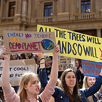 Melbourne, Australia. 15th March, 2019. Thousands of school students in Melbourne take part in the School Strike for Climate protest today as part of a national and global movement by students for greater urgency from politicians in tackling Climate Change which they see as the greatest threat to their future. Credit: Steven Sklifas/Alamy Live News