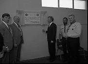 Ballymun Scout Hall.1982.28.07.1982.07.28.1982.28th July 1982.Sean Doherty TD Opens Ballymun Scout Hall ,Albert College Drive, Dublin 9..The Minister is watched by Mr Patrick Mc Fadden, Governor Mountjoy Prison, Mr Noel Mc Carthy,101st Scout Leader and Mr Joe Lawlor Chief Scout.