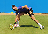 Tennis - 2017 Aegon Championships [Queen's Club Championship] - Day Two, Monday<br /> <br /> Men's Singles, Round of 32<br /> Thanasi Kokkinakis [AUS] vs. Milos Raonic [Canada]<br /> <br /> Thanasi Kokkinakis, on Centre Court.<br /> <br /> COLORSPORT/ANDREW COWIE