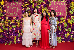 (From left to right) Constance Wu, Gemma Chan, Awkwafina and Jing Lusi attending the Crazy Rich Asians Premiere held at Ham Yard Hotel, London.