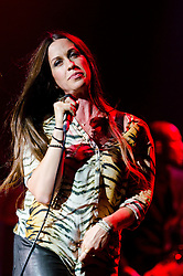© Licensed to London News Pictures. 27/06/2012. London, UK. Alanis Morissette live at O2 Academy Brixton, 27 June 2012.  Alanis Nadine Morissette is a Canadian American singer-songwriter, guitarist, record producer, and actress. She has won 16 Juno Awards and seven Grammy Awards, was nominated for two Golden Globe Awards and also shortlisted for an Academy Award nomination.  Her eighth studio album is due for release later this year.  Photo credit : Richard Isaac/LNP