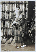 fashionable young woman in a stylish kimono coat Japan late 1920s early 1930s