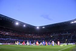 May 5, 2019 - Lyon, France - ILLUSTRATION - SUPPORTERS - TRIBUNES - ENTREE DES JOUEURS (Credit Image: © Panoramic via ZUMA Press)