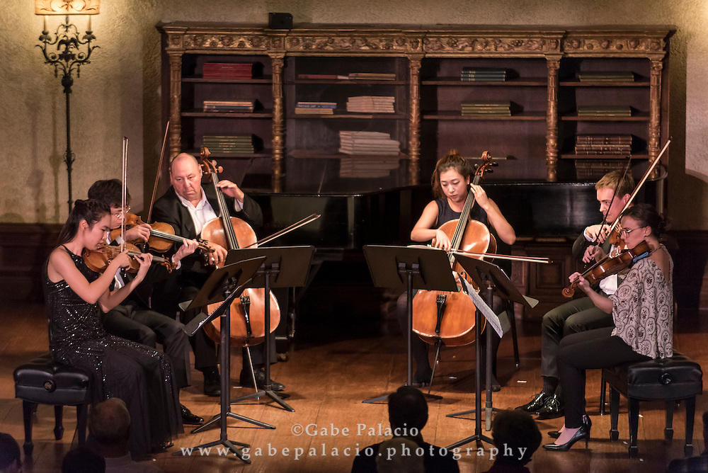Rising Stars performance with distinguished artists/Mentors Pamela Frank, Kim Kashkashian, and Peter Wiley, in the Music Room of the Rosen House at Caramoor in Katonah New York on November 1, 2015. <br /> (photo by Gabe Palacio)