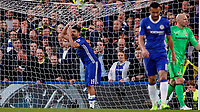 Football - 2016 / 2017 Premier League - Chelsea vs. Middlesborough<br /> <br /> Diego Costa of Chelsea grabs the net in despair after his shot went close at Stamford Bridge.<br /> <br /> COLORSPORT/DANIEL BEARHAM