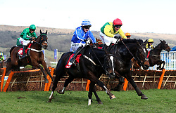Penhill ridden by jockey Paul Townend (centre) goes on to win the Sun Bets Stayers' Hurdle during St Patrick's Thursday of the 2018 Cheltenham Festival at Cheltenham Racecourse.
