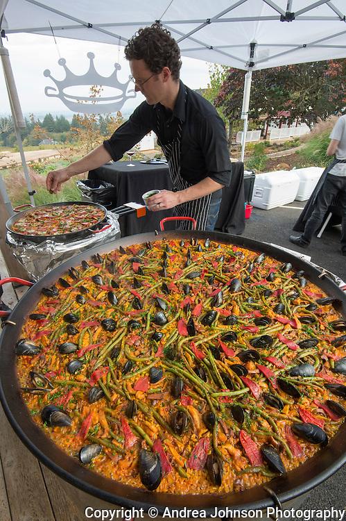 Paella event, Brooks Winery, Eola-Amity AVA, Willamette Valley, Oregon