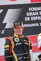 MOTORSPORT - F1 2013 - GRAND PRIX OF SPAIN / GRAND PRIX D'ESPAGNE - BARCELONA (ESP) - 10 TO 12/05/2013 - PHOTO : JEAN MICHEL LE MEUR / DPPI - RAIKKONEN KIMI (FIN) - LOTUS E21 RENAULT- AMBIANCE PORTRAIT / PODIUM