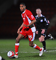 Leon Constantine of Cheltenham Town<br /> Cheltenham Town vs Oldham Athletic<br /> Coca Cola League One, Whaddon Road, Cheltenham<br /> 24/03/2009. Credit Colorsport/Dan Rowley