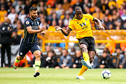 Willy Boly of Wolverhampton Wanderers takes on Sergio Aguero of Manchester City - Mandatory by-line: Robbie Stephenson/JMP - 25/08/2018 - FOOTBALL - Molineux - Wolverhampton, England - Wolverhampton Wanderers v Manchester City - Premier League