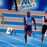 NLD/Apeldoorn/20180217 - NK Indoor Athletiek 2018, 60 meter heren, Simon Blok, Churandy Martina en Roelf Bouwmeester