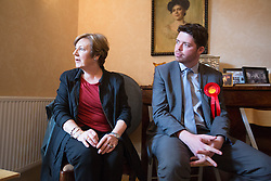 @Licensed to London News Pictures 05/05/15. Sandwich, Kent. Celebrity TV chef Delia Smith supports the Labour parliamentary candidate for Thanet South Will Scobie during a visit to Sandwich today speaking to members of the community who are yet to decide how they will be voting. Photo credit: Manu Palomeque/LNP