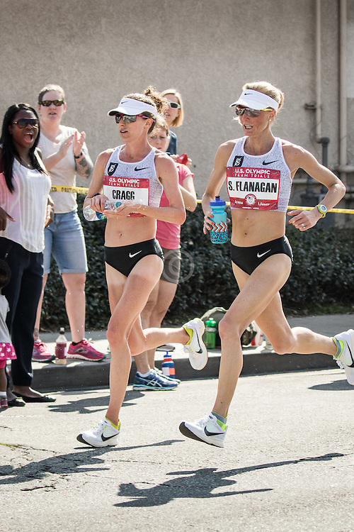 USA Olympic Team Trials Marathon 2016, Amy Cragg and Shalane Flanagan