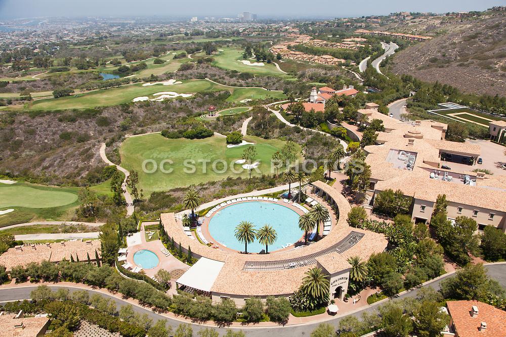 Pelican Hill Resort of Newport Coast Aerial Stock Photo