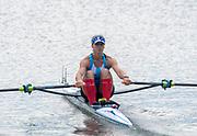 Poznan, POLAND, 21.06.19,  Friday,  ARG LW1X,Milka  KRALJEV, at the start of her heat, FISA World Rowing Cup II, Malta Lake Course, © Peter SPURRIER/Intersport Images, <br /> <br /> 09:42:43