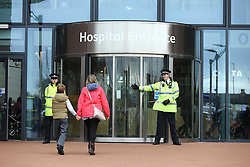 © Licensed to London News Pictures. 24/04/2018. Liverpool, UK.  Alder Hey hospital in Liverpool where 23 month old Alfie Evans life support has been withdrawn but it is reported that he has been breathing unaided for 9 hours. Alfie has been living in a coma for the past year after being struck down with a mystery illness his parents Kate James & Tom Evans have been fighting legal cases t keep him alive & move him abroad for medical treatment. Photo credit: Andrew McCaren/LNP