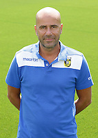 Coach Peter Bosz during the team presentation of Vitesse Arnhem on July 6, 2015 at the Papendal training complex in Arnhem, The Netherlands.