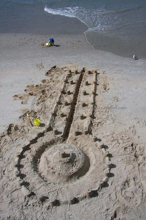 Dunedin Sandcastle Building Competition -Sandcastles at St Clair.