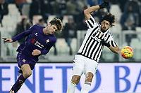 Marcos Alonso Fiorentina, Sami Khedira Juventus <br /> Torino 13-12-2015, Juventus Stadium, Football Calcio 2015/2016 Serie A, Juventus - Fiorentina, Foto Image Sport/Insidefoto