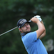 Ryan Moore, USA, in action during the final round of the Travelers Championship at the TPC River Highlands, Cromwell, Connecticut, USA. 22nd June 2014. Photo Tim Clayton