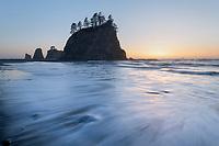Little James Island sunset, Olympic National Park Washington