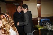 Sir Elton John and writer Lee Hall.  Billy Elliot the Musical celebrates First Birthday. Victoria Palace Theatre. 12 May 2006. ONE TIME USE ONLY - DO NOT ARCHIVE  © Copyright Photograph by Dafydd Jones 66 Stockwell Park Rd. London SW9 0DA Tel 020 7733 0108 www.dafjones.com